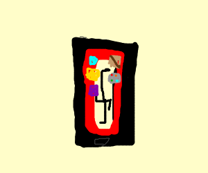 Phone with swastika wallpaper