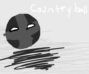 grayscale countryball