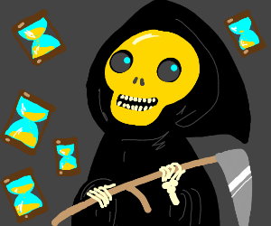 death with a yellow skull