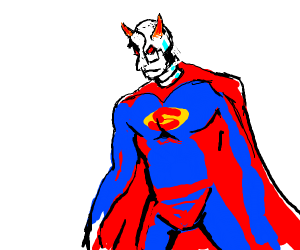 Cyborg devil as Superman
