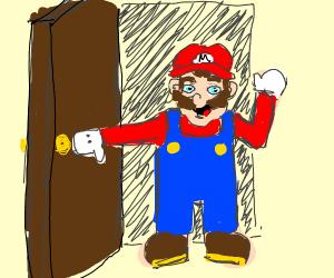 mario is entering the room!!!