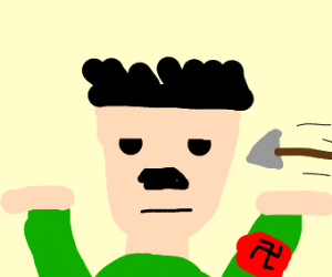 Hitler is okay with being shot with an arror