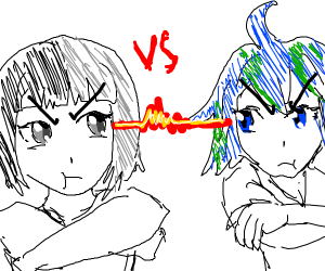 Moon and earth fight