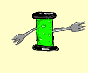 radioactive poison with fork arms