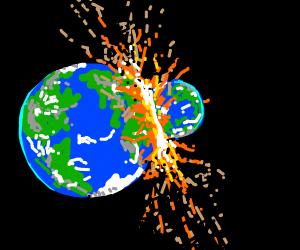 2 earths colliding