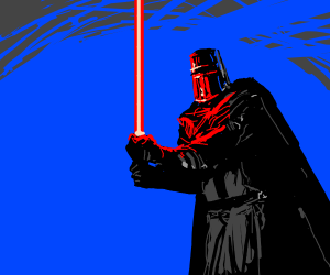 knight with lightsaber