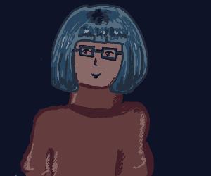 Blue haired Velma (scooby doo)