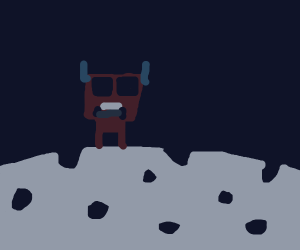 Cow lands on the moon