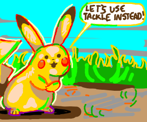 Pikachu doesn't want to use thunderbolt :(