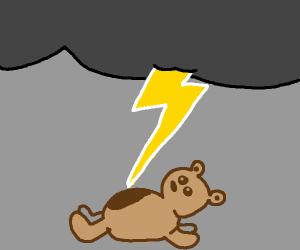 Cloud lightningstrikes blobby bear