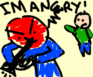 play a trumpet to calm him down!
