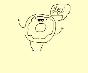 Donut is happy it's not being eaten