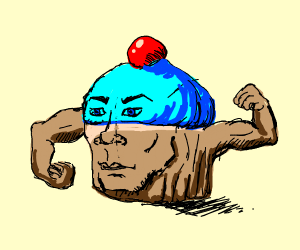strong cupcake