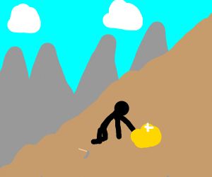 The stick dude found the gold