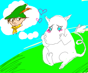 moomin is thinking of snufkin