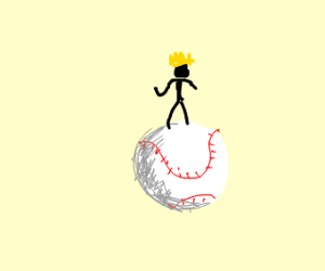 King on a baseball