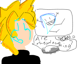 Cloud's DC drawings only get laugh emotes