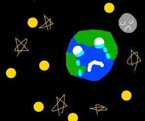 Depressed planet