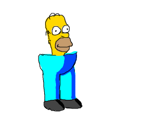 homer without arms or a body