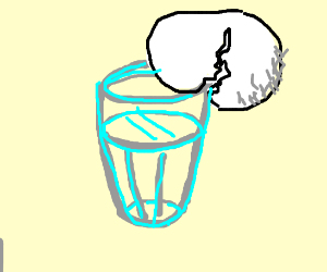 Cracking an egg on a glass cup