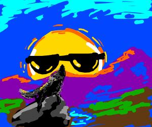 Wolf is flattering the sun