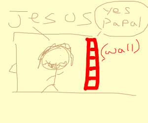 jesus gets yes papa'd by a wall