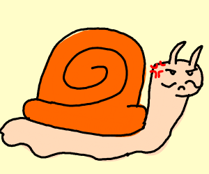 pissed french snail