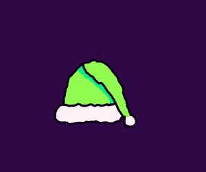 Santa's hat except it's green