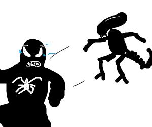 Venom is scared of a Xenomorph