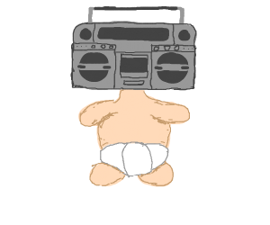boombox-headed child