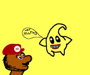 Mario sees a Luma