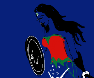 Blue Wonder Woman