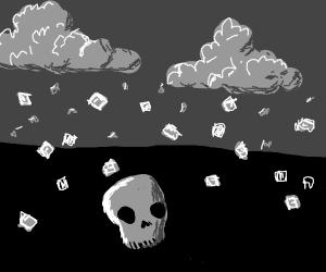 Skull in a Hailstorm