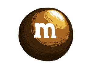 brown mnm