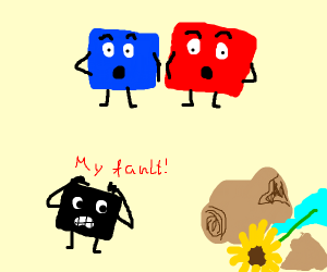 it was me, a black square!