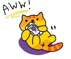 Aw! a cute yellow kitty!
