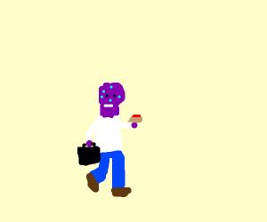 Thanos as a human