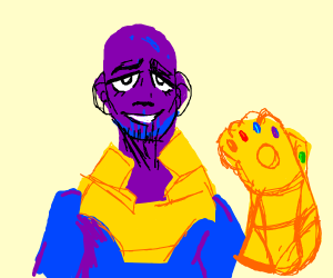 thanos snapping the avengers