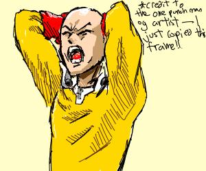 Step 4: Saitama realizes he's late for a sale