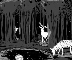 Enchanted White Deer