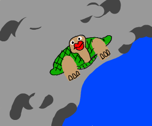 Turtle wearing lipstick