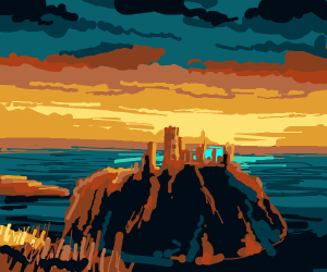 Castle at sunrise