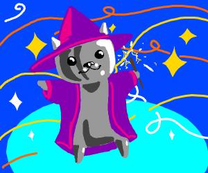 Metallic wizard cat
