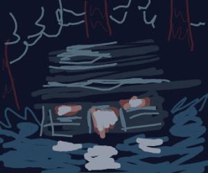 Mystery Shack at Night