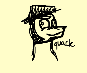 painting of evil duck