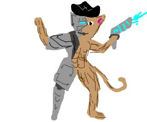 Cyber-pirate furry