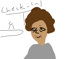 afro-american old lady going to hospital