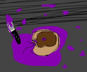 murder scene of a murdered donut