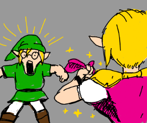 Link being shown magic