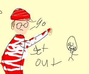 waldo tells old man to get out